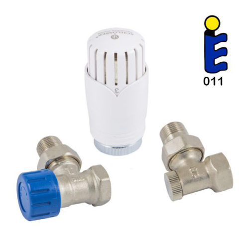 Angle thermostatic set