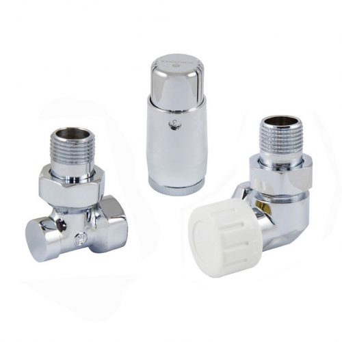 Side-angle right thermostatic set