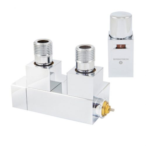 Duo-plex Square thermostatic set, angle right