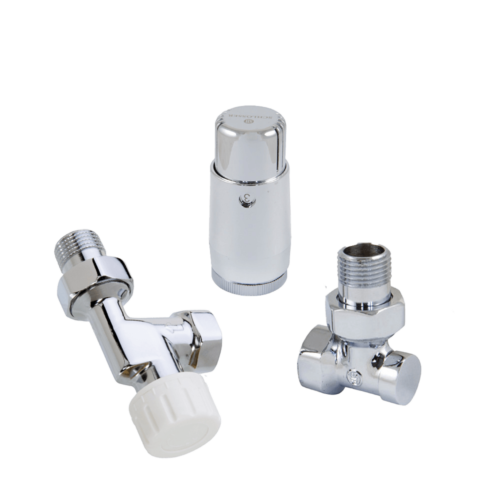 Axial thermostatic set